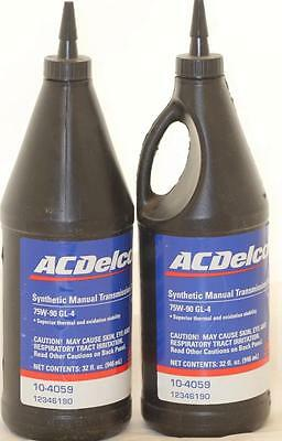 Synthetic Manual Transmission Fluid 2 Quarts ACDelco 12346190 32 oz 75W-90 GL-4