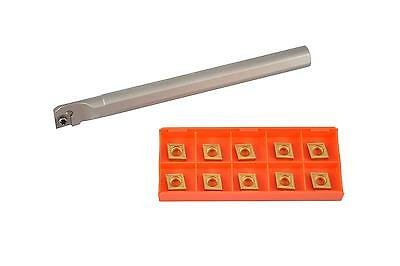Glanze SCLCR 8 3D Kit CCMT 321 M3 G200 Indexable Boring Bar with 10 Carbide...