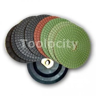 Toolocity 4fpdset jx 4 Inch JX Shine Diamond Polishing Pad with Free Back...