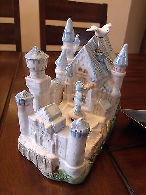 """Schmid Music Box Castle Town Cryer Dove """"As Time Goes By"""" Vintage Fine China"""