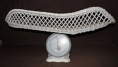 "Vintage Furniture 28"" Wicker Baby Scale Plain Faceplace"