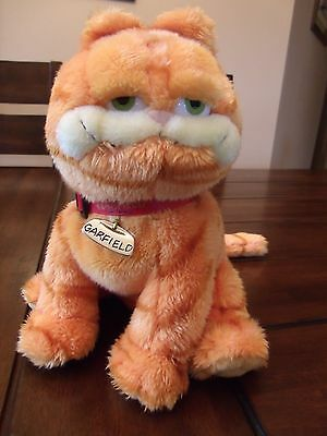 TY Beanie Buddies Garfield Tag Coller 10 Inches Tall From UK