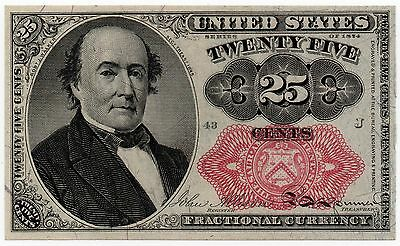 25 Cents 1874 Series Fractional Currency Red Seal CCU Fr 1309 - #008