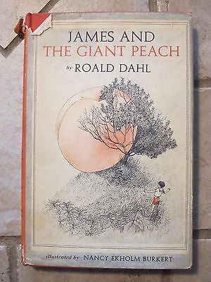 James And the Giant Peach 1st Edition 2nd State Colophon Roald Dahl 1961 Book