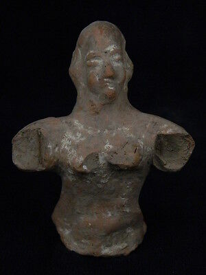 """Ancient Bactrian Teracotta Bust C.300 Bc  """"""""t825"""""""""""