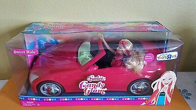 2008 Barbie Candy Glam Sweet Ride w/ Red Convertible Toys R Us Exclusive NIB