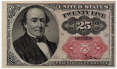 25 Cents 1874 Series Fractional Currency Red Seal CU Fr 1309 - #006