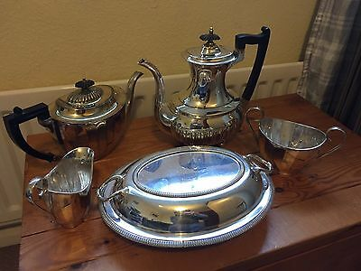 Silver-plated coffee/tea/serving items (vintage)