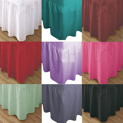 Plain Dyed Polycotton Fitted Valance Sheet Single, Double, King, Super King New