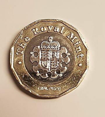 New One Pound £1 Coin 2015 Royal Mint Trial Piece mega Rare
