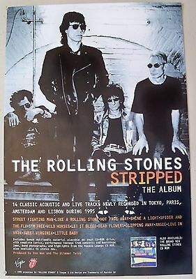 1995 Rolling Stones Stripped Virgin Promo Poster Jagger Richards Watts Wood