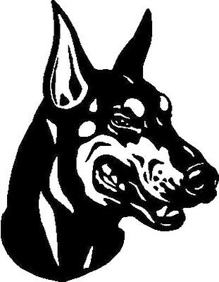 Doberman Decal Vinyl 6 Inch Dog Pet Lover Sticker For Car Home
