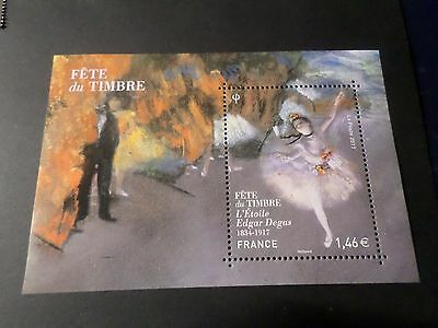 FRANCE 2017 BLOC timbre TABLEAU ETOILE DEGAS, BALLET PAINTING, neuf**, MNH STAMP