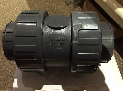 "Brand New Plasson 1-1/2"" Check Valve"