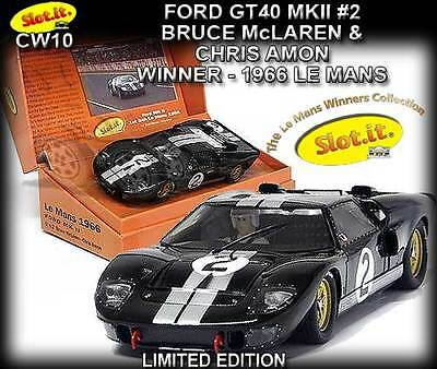 Slot.it CW10 Ford GT40 MKII 1st Le Mans 1966 - use on Scalextric slot car track