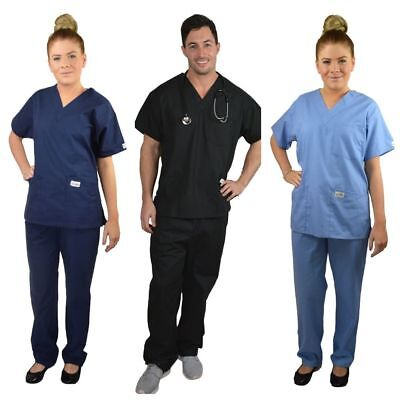 ScrubShine Unisex Medical Scrubs Set/ Uniform. Nurse- BN Choose Size & Colour