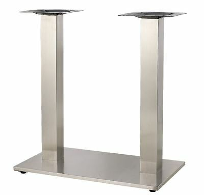 NEW Indoor Stainless Steel Base Restaurant Seating Furniture TABLE TOP #BASE011