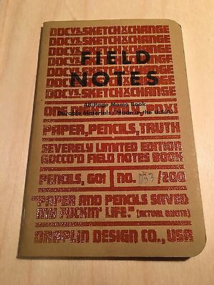 Field Notes Rare DDC PDX SketchXchange Notebook