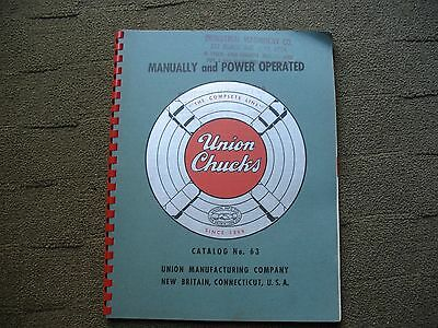 1951 Manually & Power Operated Union Chucks Catalog # 63