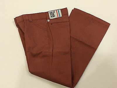 Vintage Billy The Kid Pants Permanent Press Rust Color Bells Flares 14 NWT