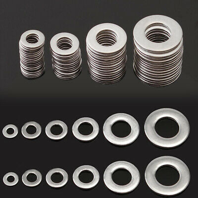 105PCS Stainless Steel Washers Metric Flat Washer Screw Kit M3 M4 M5 M6 M8 M10