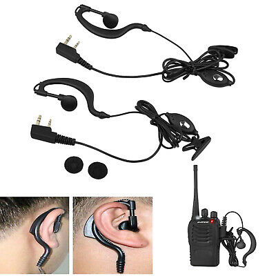 2PCS Headset/Earpiece Ear Clip For Baofeng Radio Security 2 Pin Walkie Talkie AU