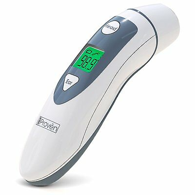Medical Ear Thermometer with Forehead Function - iProven DMT-489 - Upgraded Lens