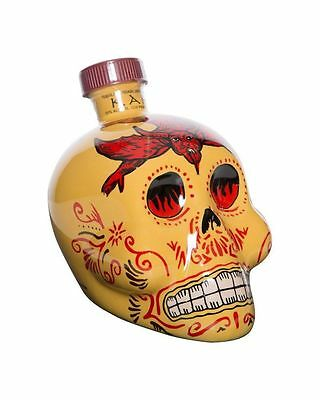 Kah Skull Reposado Tequila 750 Ml Yellow Bottle