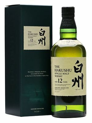 SUNTORY HAKUSHU 12 YEAR OLD SINGLE MALT JAPANESE WHISKY 700mL