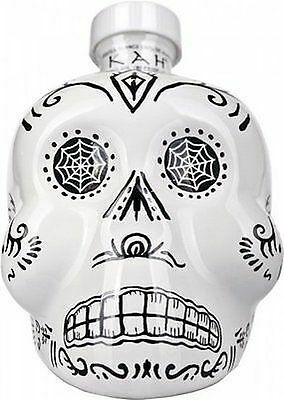 Kah Skull Blanco White Skull Tequila 750 Ml Collectors Bottle