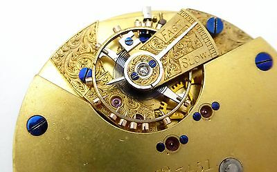 Late 1800s Diamond End Antique Pocket Watch Movement