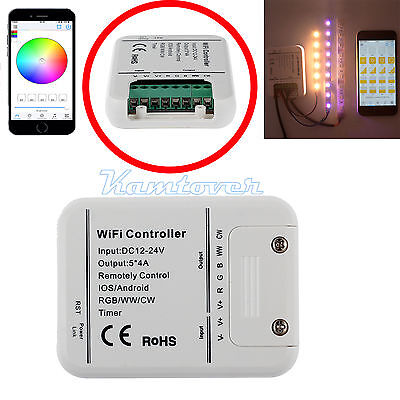 Wireless WIFI RGB LED Strip Light Controller Remote For iOS Android Smartphones