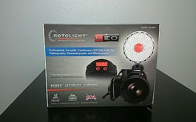 New In Box Rotolight Neo Continuous Led Video Photography Studio Light Rl-Neo