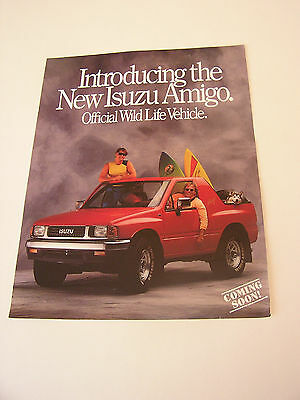 1988 Isuzu Amigo preview brochure • 2 sided • original