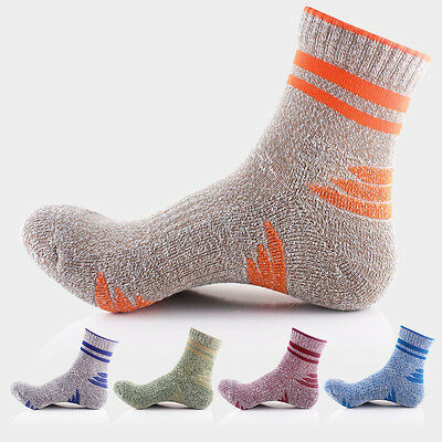1pair men's Climbing Sport Ankle Socks Soft Nap Crew Quarter Cotton Brand New