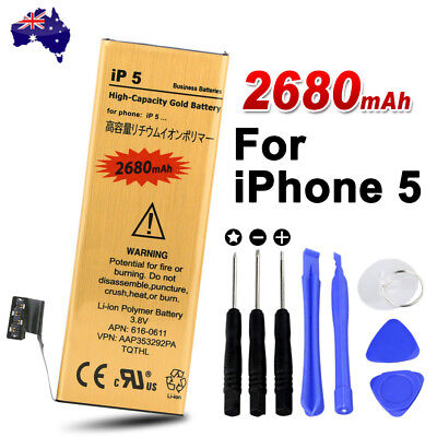 Premium Just for iPhone 5 Replacement Battery Tools Kit Gold 2680mAh