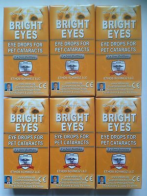 Ethos Bright Eyes Catatract Eye Drops for Dogs & Pets 6 Boxes 60ml