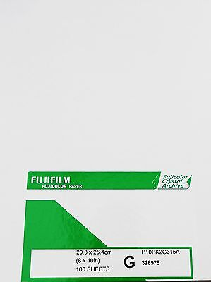 "Fujifilm Crystal Archive 10x8"" 20.3x25.4cm Colour Paper Gloss (100 sheets)"