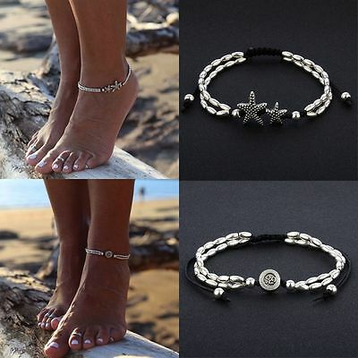 Starfish Anklet Ankle Bracelet Barefoot Sandal Beach Foot Jewelry Chain Gift AU
