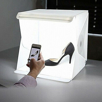 LED Light Room Photo Studio Photography Lighting Tent Backdrop Cube Box Mystic