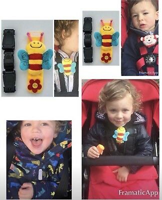 Universal Buggy Buddy Mummy Clip Strap  🐝 Stops Your Houdini Escapee