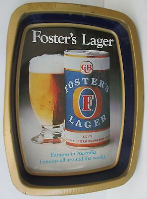 Fosters Lager Beer metal bar drink serving tray for home bar pub or collector