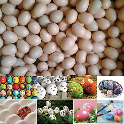Wooden Artifical Fake Eggs f Art Painting Coloring Carving Kitchen Garden Decor