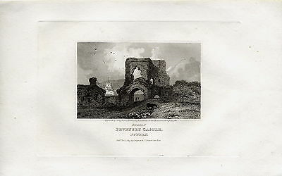 1822 Print; View of Pevensey Castle, Sussex