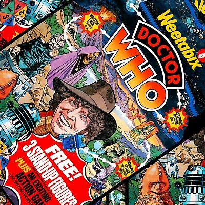 Doctor Who Signed Prints - FREE BADGE - Dr Who - Weetabix - Retro - Limited