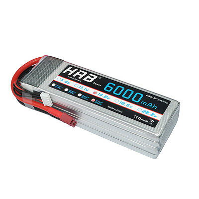 HRB Lipo Battery 14.8V 6000mAh 50C-100C 4S AKKU For RC helicopter Drone Car UK