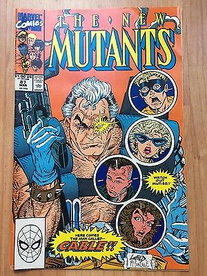 The New Mutants Marvel Comics 1st Print #87 First Appearance Of Cable