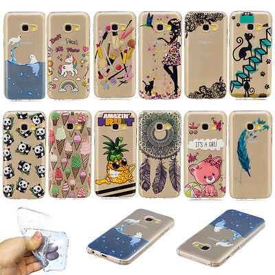 Rubber Pattern Silicone Clear Soft TPU Cute Back Cover Case For Samsung Huawei