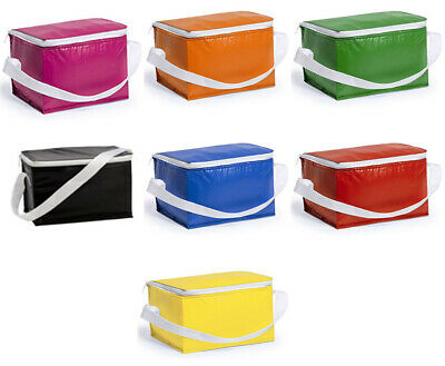 Insulated Foldable 6 Cans Cooler Bag Carry Handle Ice Cool Drinks Picnic Party