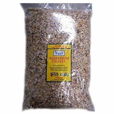 Marina Petpac Natural White Gravel 11kg Aquarium Fish Tank Substrate